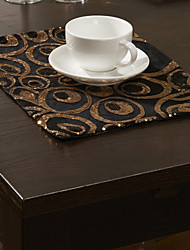 As per picture Polyester Rectangular Placemats