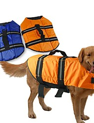 Dog Life Vest Orange / Blue Dog Clothes Summer / Spring/Fall Solid Waterproof