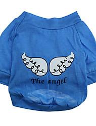 Hunde T-shirt Blau Hundekleidung Sommer Karton