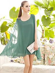 WeiSiNuo Chiffon Unregelmäßige Swing-Kleid (44)