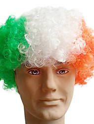 Black Afro Wig Fans Bulkness Cosplay Christmas Halloween Wig Indian Flag Wig 1pc/lot