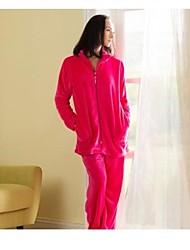 Super Soft Wohnzimmer Moderne Kleidung Fashional Pyjamas Flanell Fleece Homedress