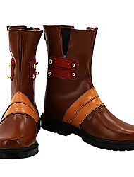 Gurren Lagann Viral Brown PU Leather Cosplay Boots