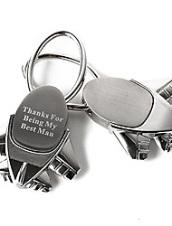 Personalized Plane Zinc Alloy Keychain - Set of 4