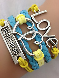 Blue Love Wrap Bracelet