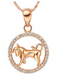 collier vintage alliage Taureau femmes avec strass (1 pc) (or, argent)