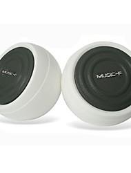 Altavoz 2.0Multimedia Music-M-9 estéreo de alta calidad USB (Blanco)