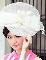 Mariage magnifique lin dames / Parti / chapeau en plein air avec le grand bowknot (plus de couleurs)
