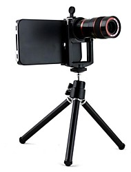 Optical 8X Zoom Telescope Lens Manual Focus with Hard Case and Stand Tripod for iPhone 5/5S