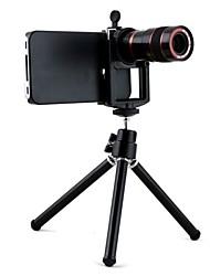 8X ottico del telescopio dello zoom Messa a fuoco manuale con Hard Case e treppiede per iPhone 4/4S