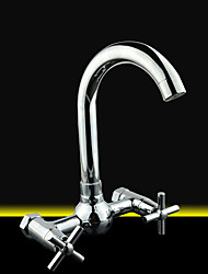 26*12*18 Brass Chrome cold and hot water Sink Faucet