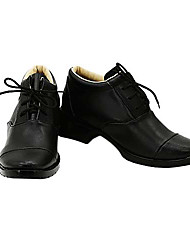 Pandora Heart Oz Bezarius Black PU Leather Cosplay Shoes
