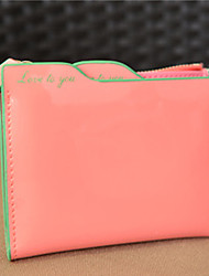 YC Women's Patent Leather Leaflet Short-Size  Card Package (Watermelon)
