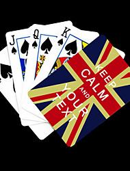 Gepersonaliseerde Gift kalmeren en Vlag van Engeland Playing Card