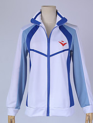 Inspired by Free! Cosplay Anime Cosplay Costumes Cosplay Hoodies Patchwork / Print White / Blue Long Sleeve Top