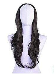 Roll Capless Synthetic Stylish 22 Inch Long Wavy Wigs 3 Colors Available