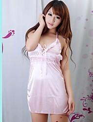 Frauen-Eis-Seide-Wäsche niedliche Prinzessin Kleid sexy Spitzenunterwäsche mit G-String Rosa