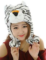 Unisexe Beau tigre blanc brouillé chaud Kigurumi Aminal Beanie