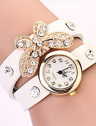 Koshi 2014 Feminina Bow Diamonade 2 Round Watch (Branco)