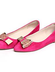 Zapatos de mujer - Tacón Bajo - Comfort / Bailarina - Planos - Oficina y Trabajo / Vestido - Lana - Negro / Azul
