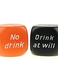 Wager Fun Game Dice de buveurs (2 PCS)