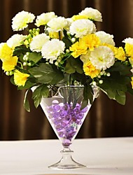 Table Centerpieces Cone Shaped Glass Vase  Table Deocrations (Flowers Not Included)