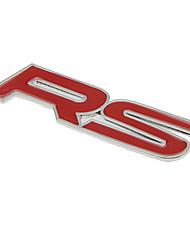 Estilo DIY Pegatina Letra Estilo de aleación de zinc de coches - Red + Silver (2 PCS)