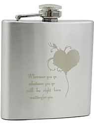 Personalized Stainless Steel 6-oz Flask - Innermost Words