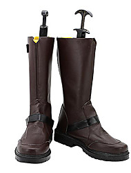 Noragami Yato Brown PU Leather Fashion Cosplay Boots
