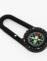 Durable Zinc Alloy Quick-Release Carabiner Clip w/ Compass - Champagne / Army Green / Black