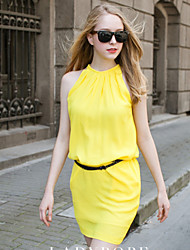 Women's Dresses , Acrylic/Chiffon/Cotton/Lace/Others/Polyester Casual/Work Super Star