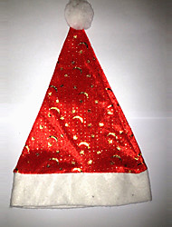 Moon and Star Style Velvet Christmas Hat