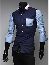 Men's Cotton/Polyester Casual AOWOFS
