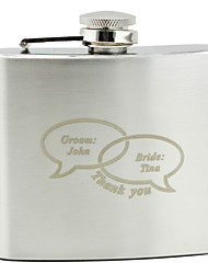 Personalized Stainless Steel 5-oz Flask - Dialogue