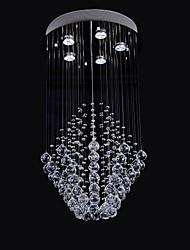 50W 5Light Claro luz de cristal K9 lámpara Chandelier