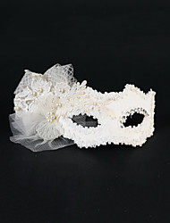 Women's Pearl Tulle Headpiece-Wedding Special Occasion Masks