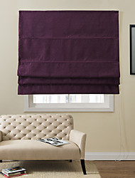 Fancy Modern Purple Solid Toothpick Decorative Pattern Eco-friendly Roman Shade