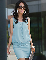 Women's Elegant Cotton Bodycon OL Fashion Dress