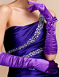 Elbow Length Fingertips Glove Satin Party/ Evening Gloves