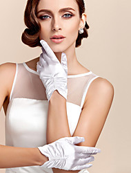 Wrist Length Fingertips Glove Satin Bridal Gloves / Party/ Evening Gloves Spring / Summer / Fall Ivory