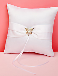 Butterfly Story Wedding Ring Pillow Coral Wedding