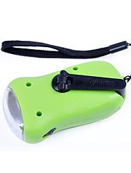 ABS Solar Rechargeable Portable LED Flashlight(Random Color)