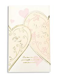 """Personalisiert Dreifach gefaltet Hochzeits-Einladungen Einladungskarten-50 Stück / Set Herz Stil Perlenpapier 6 ½""""×4 ½"""" (16.6*11.5cm)"""