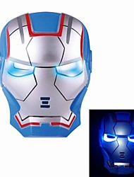 Cosplay Iron Man Mask with Blue Light-Up Eyes - Blue (3 x AG13)