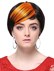 High Quality Synthetic orange Straight Hair Bangs