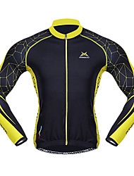 MYSENLAN® Cycling Jersey Men's Long Sleeve Bike Breathable / Thermal / Warm / Quick Dry / Windproof / Wearable Jersey / TopsSpandex /