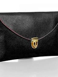 Women's Golden Chain Purse Clutch Synthetic Leather Handbag Shoulder Bag