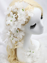 Women's / Flower Girl's Fabric Headpiece-Wedding / Special Occasion Flowers