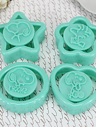 Stamp Biscuit Mold Plastic Set Of 4 Pieces