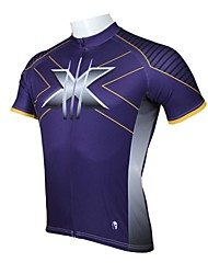 Men's Cycling Tops Short Sleeve Bike Spring / Summer Breathable / Ultraviolet Resistant / Quick Dry Purple S / M / L / XL / XXL / XXXL
